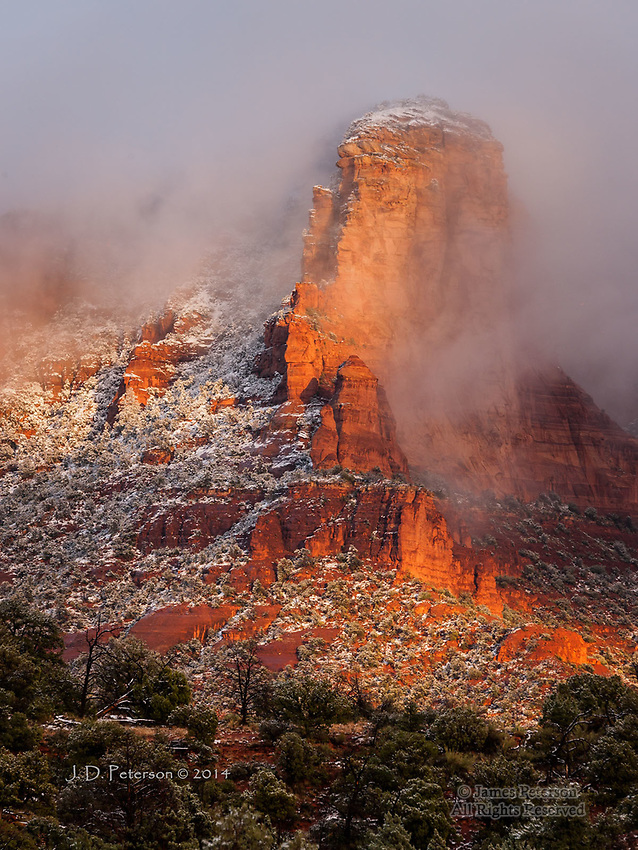 Early Winter Storm over Lee Mountain, Arizona