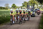 Parkhotel Valkenburg Continentalteam (PVC), Stage 2: Team Time Trial, 62th Olympia's Tour, Netterden, The Netherlands, 13th May 2014, Photo by Pim Nijland / Peloton Photos