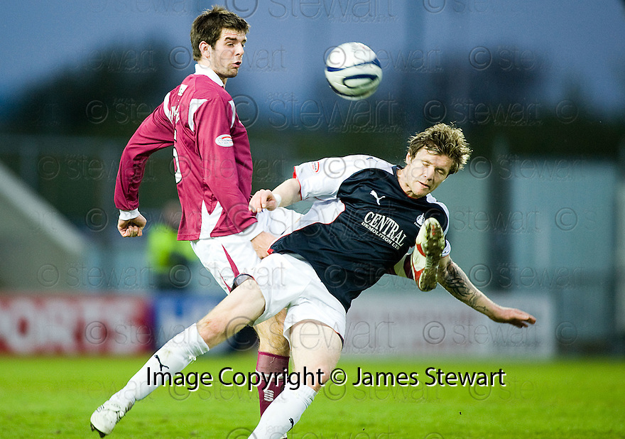 05/05/2010   Copyright  Pic : James Stewart.sct_js005_falkirk_v_st_johnstone  .::  DARREN BARR IS CAUGHT LATE BY CILLIAN SHERIDAN ::  .James Stewart Photography 19 Carronlea Drive, Falkirk. FK2 8DN      Vat Reg No. 607 6932 25.Telephone      : +44 (0)1324 570291 .Mobile              : +44 (0)7721 416997.E-mail  :  jim@jspa.co.uk.If you require further information then contact Jim Stewart on any of the numbers above.........