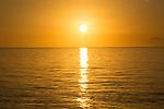Sunset at the beach, Cuba  Jardines de la Reina, Protected Marine park underwater,