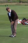 George Lopez putting at Monterey Peninsula CC