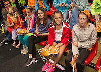 April 18, 2015, Netherlands, Den Bosch, Maaspoort, Fedcup Netherlands-Australia, Kids pressconference Photo: Tennisimages/Henk Koster