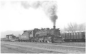3/4 engineer side view of K-36 #483 at Salida.<br /> D&amp;RGW  Salida, CO  Taken by Richardson, Robert W. - 5/2/1955