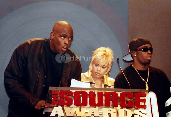 NEW YORK, NY - AUGUST 3:  ***HIGHER RATES APPLY*** Chris Webber, Faith Hill and Puff Daddy at the 1995 Source Awards at Madison Square Garden in New York City on August 3, 1995. Credit: Walik Goshorn/MediaPunch