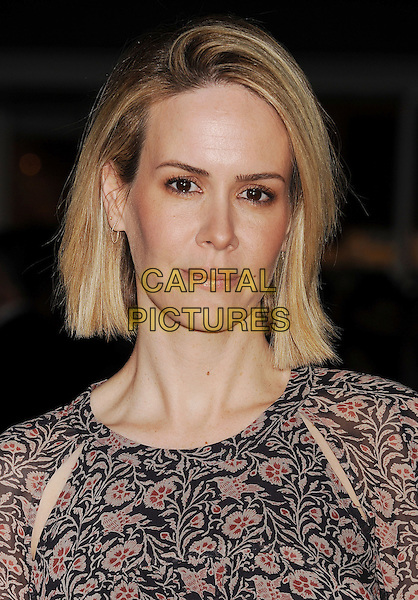 WESTWOOD, CA- FEBRUARY 24: Actress Sarah Paulson arrives at the 'Non-Stop' - Los Angeles Premiere at Regency Village Theatre on February 24, 2014 in Westwood, California.<br /> CAP/ROT/TM<br /> &copy;Tony Michaels/Roth Stock/Capital Pictures