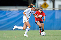 2 October 2011:  FIU's Chelsea Leiva (2) battles South Alabama's Tatum Perry (20) for the ball in the first half as the FIU Golden Panthers defeated the University of South Alabama Jaguars, 2-0, at University Park Stadium in Miami, Florida.