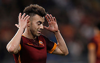 Calcio, Serie A: Roma vs Bologna. Roma, stadio Olimpico, 11 aprile 2016.<br /> Roma&rsquo;s Stephan El Shaarawy reacts during the Italian Serie A football match between Roma and Bologna at Rome's Olympic stadium, 11 April 2016.<br /> UPDATE IMAGES PRESS/Isabella Bonotto
