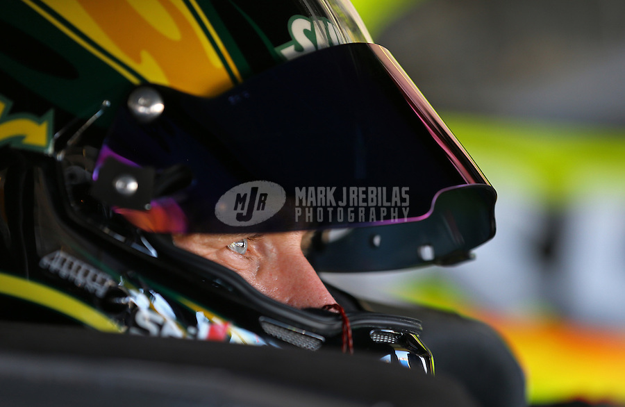 Mar. 1, 2013; Avondale, AZ, USA; NASCAR Sprint Cup Series driver Carl Edwards during practice for the Subway Fresh Fit 500 at Phoenix International Raceway. Mandatory Credit: Mark J. Rebilas-