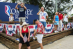 Supporters mill around after a campaign rally with Republican Vice Presidential candidate Paul Ryan (R-WI) on Saturday, August 18, 2012 in The Villages, FL.