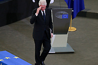 STRASBOURG, FRANCE - JULY 01 :Bill Clinton; speaks at a memorial ceremony for former German Chancellor Helmut Kohl at the European Parliament on July 1, 2017 in Strasbourg, France. Kohl was chancellor of Germany for 16 years and led the country from the Cold War through to reunification. He died on June 16 at the age of 87<br /> Foto Elyxandro Cegarra / Panoramic / Insidefoto <br /> ITALY ONLY