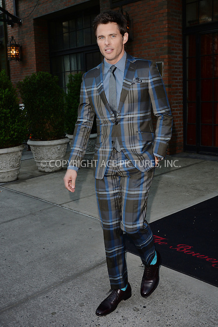 WWW.ACEPIXS.COM<br /> May 6, 2015 New York City<br /> <br /> James Marsden is seen leaving a downtown hotel in New York City on May 6, 2015.<br /> <br /> By Line: Kristin Callahan/ACE Pictures<br /> ACE Pictures, Inc.<br /> tel: 646 769 0430<br /> Email: info@acepixs.com<br /> www.acepixs.com
