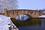 Charlotte NC - The Freedom Park Bridge, Winter