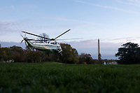 Marine One, with United States President Donald J. Trump on board, departs the South Lawn of the White House in Washington D.C., U.S., on Thursday, November 14, 2019.<br /> <br /> Credit: Stefani Reynolds / CNP/AdMedia