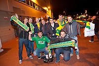 Thursday 24 October 2013  <br /> Pictured:  Fans outside the Stadium<br /> Re:UEFA Europa League, Swansea City FC vs Kuban Krasnodar,  at the Liberty Staduim Swansea