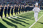 Nov. 14, 2015; The Notre Dame Marching Band performs during pregame ceremonies before the Wake Forest game. (Photo by Matt Cashore)