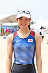 Hinako Takimoto (JPN), <br /> AUGUST 20, 2018 - Rowing : <br /> Women's Lightweight Double Sculls  Final <br /> at Jakabaring Sport Center Lake <br /> during the 2018 Jakarta Palembang Asian Games <br /> in Palembang, Indonesia. <br /> (Photo by Yohei Osada/AFLO SPORT)