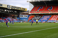 29th June 2020; Selhurst Park, London, England; English Premier League Football, Crystal Palace versus Burnley Football Club; Luka Milivojevic of Crystal Palace taking a free kick during the 1st half inside an empty Selhurst Park