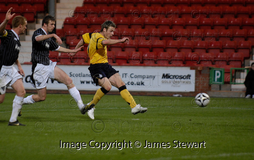 04/11/2006       Copyright Pic: James Stewart.File Name :sct_jspa07_dunfermline_v_falkirk.ANTHONY STOKES SCORES FALKIRK'S SECOND.James Stewart Photo Agency 19 Carronlea Drive, Falkirk. FK2 8DN      Vat Reg No. 607 6932 25.Office     : +44 (0)1324 570906     .Mobile   : +44 (0)7721 416997.Fax         : +44 (0)1324 570906.E-mail  :  jim@jspa.co.uk.If you require further information then contact Jim Stewart on any of the numbers above.........