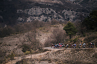 descending towards the finish<br /> <br /> 76th Paris-Nice 2018<br /> stage 6: Sisteron &gt; Vence (198km)