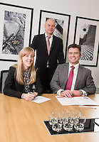 Senior Partner Andy Mattews (centre) with Charlotte Chapman and Paul Simpson from Gateley plc Nottingham