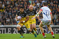 Victor Vito and Arthur Joly of La Rochelle during the Challenge Cup semi final match between Stade Rochelais and Sale Sharks on April 20, 2019 in La Rochelle, France. (Photo by Anthony Dibon/Icon Sport)