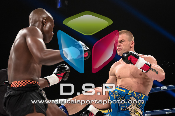 Rafal Gorka VS Marcel Adeyami - 72.5KG Final. Photo by: Stephen Smith<br /> <br /> Super Fight Series Championship - Episode 1 Cosmic Collision. Saturday 16th May 2015.<br /> <br /> The SSE Arena, Wembley, London, United Kingdom.