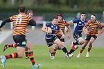 Leinster wing Sam Coghlan-Murray weaves his way throughout the Quins defence.<br /> British &amp; Irish Cup<br /> Carmarthen Quins v Leinster A<br /> Carmarthen Park<br /> 25.10.14<br /> &copy;Steve Pope-SPORTINGWALES