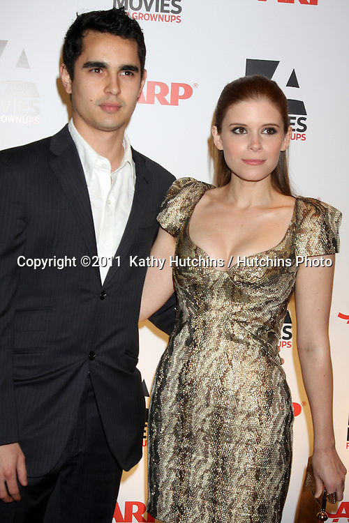 "LOS ANGELES - FEB 7:  Max Minghella, Kate Mara arrives at the 2011 AARP ""Movies for Grownups"" Gala  at Regent Beverly Wilshire Hotel on February 7, 2011 in Beverly Hills, CA"