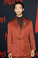 """LOS ANGELES - MAR 9:  Yoson An at the """"Mulan"""" Premiere at the Dolby Theater on March 9, 2020 in Los Angeles, CA"""
