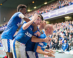 Kenny Miller leads the celebrations as his goal seals the win in added on time