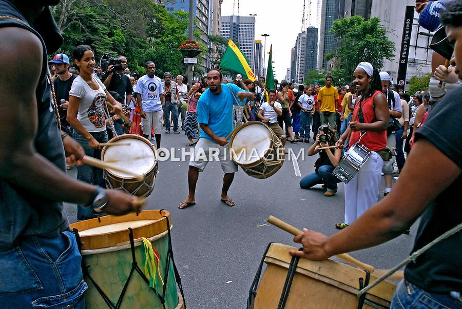 Passeata Dia da Consciência Negra. São Paulo. 2006. Foto de Juca martins.