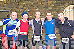 The first five home at the Puck Warriors Duathlon in Killorglin on Saturday l-r: Claudia Musazzi Italy 5th, Michael Dulla Drimoleague 2nd, Oisin McGrath Ennis 1st, Patrick Quinn Ennis 4th ands John O'Brien Ennis 5th