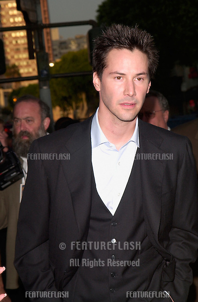 Actor KEANU REEVES at the world premiere of his new movie The Replacements, in Los Angeles.