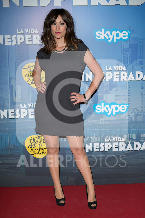 "Ana Morgade attend the Premiere of the movie ""La vida inesperada"" at the Callao Cinema in Madrid, Spain. April 25, 2014. (ALTERPHOTOS/Carlos Dafonte)"