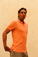 Spain«s tennis player Rafael Nadal arrives to a press conference in his birthplace village of Manacor on the Spanish Balearic island of Mallorca August 17, 2012. REUTERS/Enrique Calvo