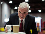 © Joel Goodman - 07973 332324 . 26/09/2016 . Liverpool , UK . Shadow chancellor JOHN MCDONNELL at the conference ahead of his speech on the economy . The second day of the Labour Party Conference at the ACC Liverpool . Photo credit : Joel Goodman