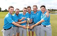 Victorious Northland team members celebrate winning the Toro Men's Interprovincial Golf Championship, Clearwater Golf Course, Christchurch, New Zealand, Friday 30 November. photo: Martin Hunter/www.bwmedia.co.nz