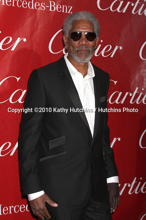 Morgan Freeman.arriving at the 2010 Palm Springs Film Festival Awards Gala.Palm Springs Convention Center.January 5, 2010.©2010 Kathy Hutchins / Hutchins Photo.