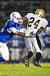 Culver City, CA 09/17/10 - Okuoma Idah (Peninsula #24) and Ijumaa Armstrong (Culver City #4) in action during the Peninsula Panthers-Culver City Centaurs varsity football game at Culver City High School.