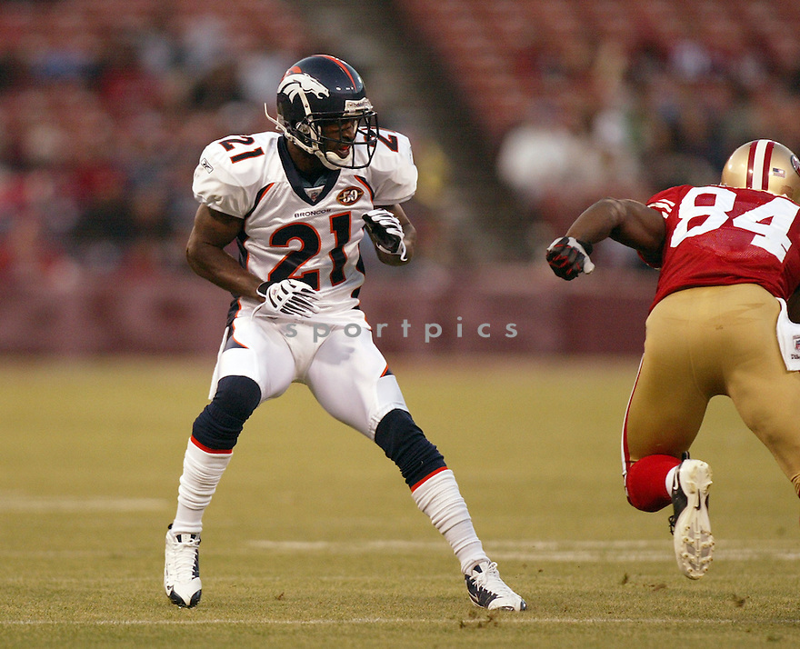 ANDRE GOODMAN, of the Denver Broncos in action  during the Raiders game against the  San Francisco 49ers on August 14, 2009 in San Francisco, CA  The 49ers beat  the Bronco 17-16.