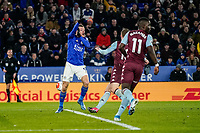 9th March 2020; King Power Stadium, Leicester, Midlands, England; English Premier League Football, Leicester City versus Aston Villa; Jamie Vardy of Leicester City appeals for handball