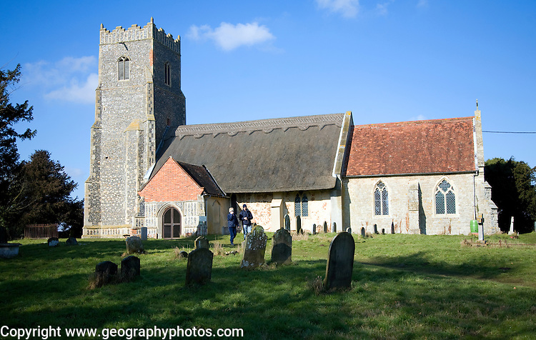 Church of St Botolph probable site of early Saxon settlement of Saint Botolph's Abbey at Ikenhoe, Iken, Suffolk, England