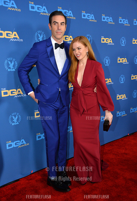 LOS ANGELES, CA. February 02, 2019: Sacha Baron Cohen & Isla Fisher at the 71st Annual Directors Guild of America Awards at the Ray Dolby Ballroom.<br /> Picture: Paul Smith/Featureflash