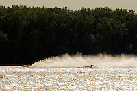 "Marty Wolfe, GP-93 ""Renegade"", Patrick Haworth, GP-777 ""The Crush"", Grand Prix class hydroplane(s).Syracuse Hydrofest, Onondaga Lake, Syracuse, NY.20/21 June, 2009, Dayton, OH USA..©F. Peirce Williams 2009 USA.F.Peirce Williams.photography.ref: RAW (.NEF) File Available"