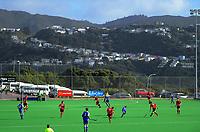 Auckland v Canterbury men. 2019 National Hockey Under-18 Tournament at National Hockey Stadium in Wellington, New Zealand on Monday, 8 July 2019. Photo: Dave Lintott / lintottphoto.co.nz