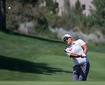 Kyoung-Hoon Lee chips onto the 2nd green during the Barracuda Championship PGA golf tournament at Montrêux Golf and Country Club in Reno, Nevada on Saturday, July 27, 2019.