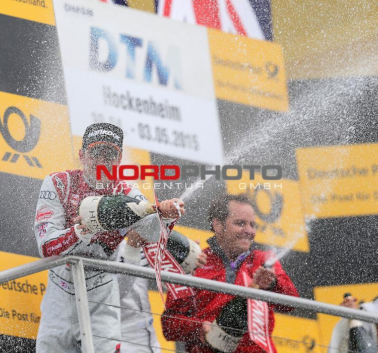 DTM 2015, 01.Lauf Hockenheimring, 01.05. - 03.05.15 <br /> Champagnerduschef&uuml;r Jamie Green (GBR#53) Audi Sport Team Rosberg Audi RS 5 DTM <br /> <br /> <br /> <br /> Foto &copy; nordphoto /  Bratic