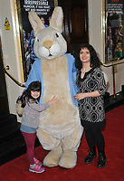 "Shappi Khorsandi and her daughter at the ""Where Is Peter Rabbit?"" musical press night, Theatre Royal Haymarket, Suffolk Street, London, England, UK, on Tuesday 09th April 2019.<br /> CAP/CAN<br /> ©CAN/Capital Pictures"