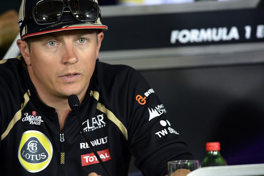 Kimi Raikkonen (FIN), Lotus Renault F1 Team ..2012 FIA Formula One World Championship - Hungarian Formula One Grand Prix, Hungaroring, Budapest, Hungary, Thursday 26th July 2012...