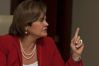 Governadora do estado do Pará, Ana Júlia de Vasconcelos Carepa, partido dos Trabalhadores, durante entrevista para o jornal Valor Econômico.<br /> Belém, Pará, Brasil.<br /> Fptp Paulo Santos<br /> 03/03/2010